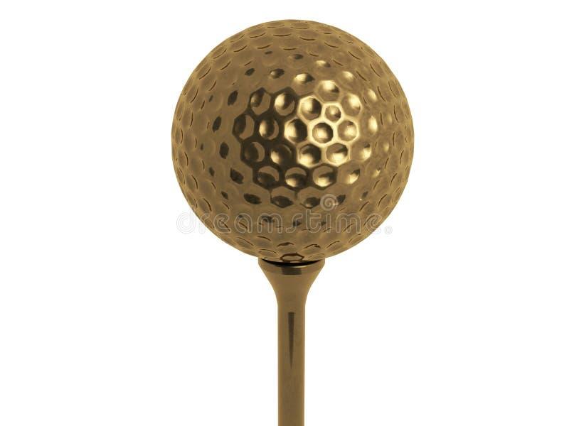 Esfera de golfe do ouro ilustração royalty free