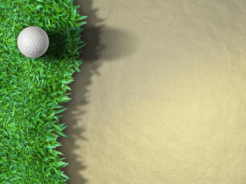 Esfera de golfe na grama imagem de stock royalty free