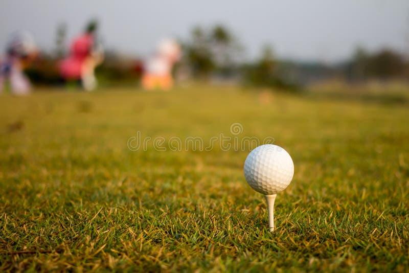 Esfera de golfe no T imagem de stock royalty free