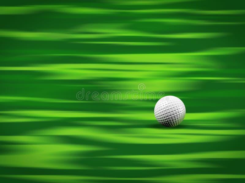 Esfera de golfe no verde imagens de stock