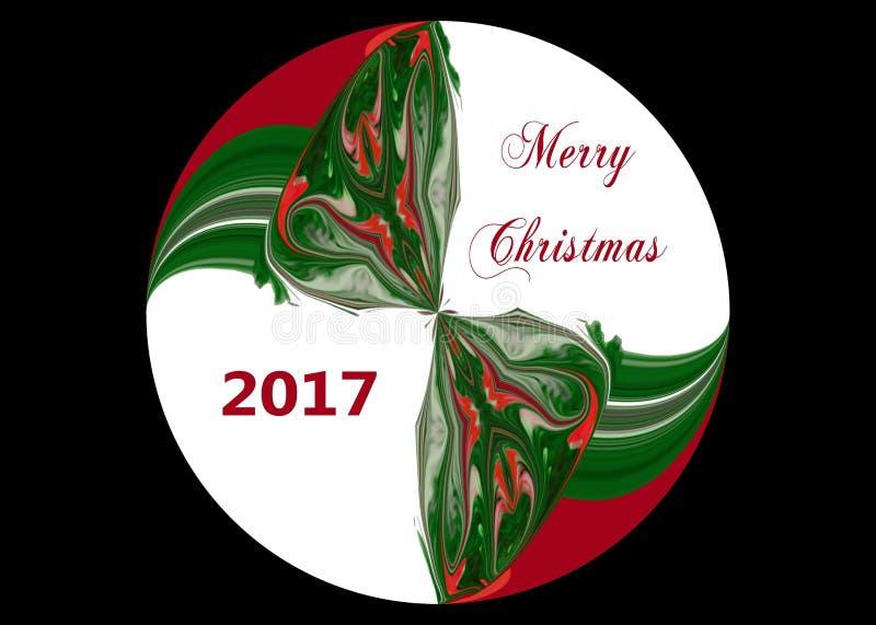 Esfera 2017 de la Feliz Navidad imagen de archivo