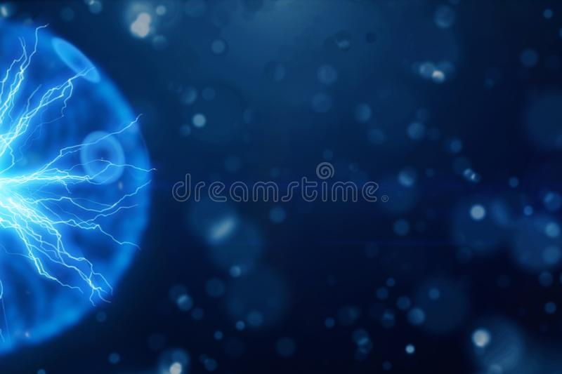 Esfera de la iluminación de la energía eléctrica ilustración del vector