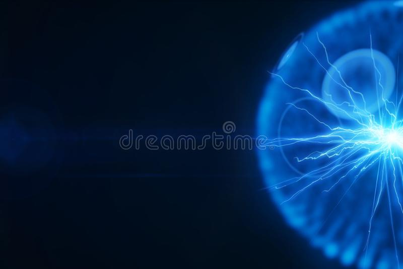 Esfera de la iluminación de la energía eléctrica stock de ilustración