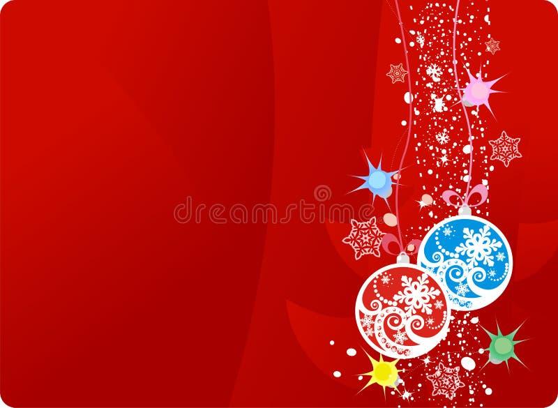 Esfera de la Navidad stock de ilustración