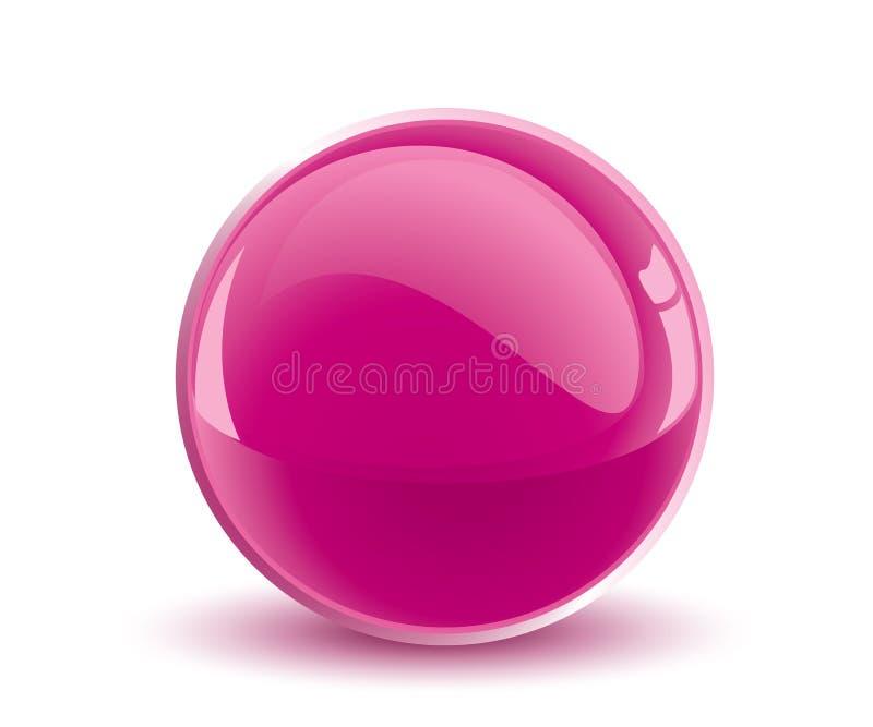 esfera de la púrpura del vector 3d libre illustration