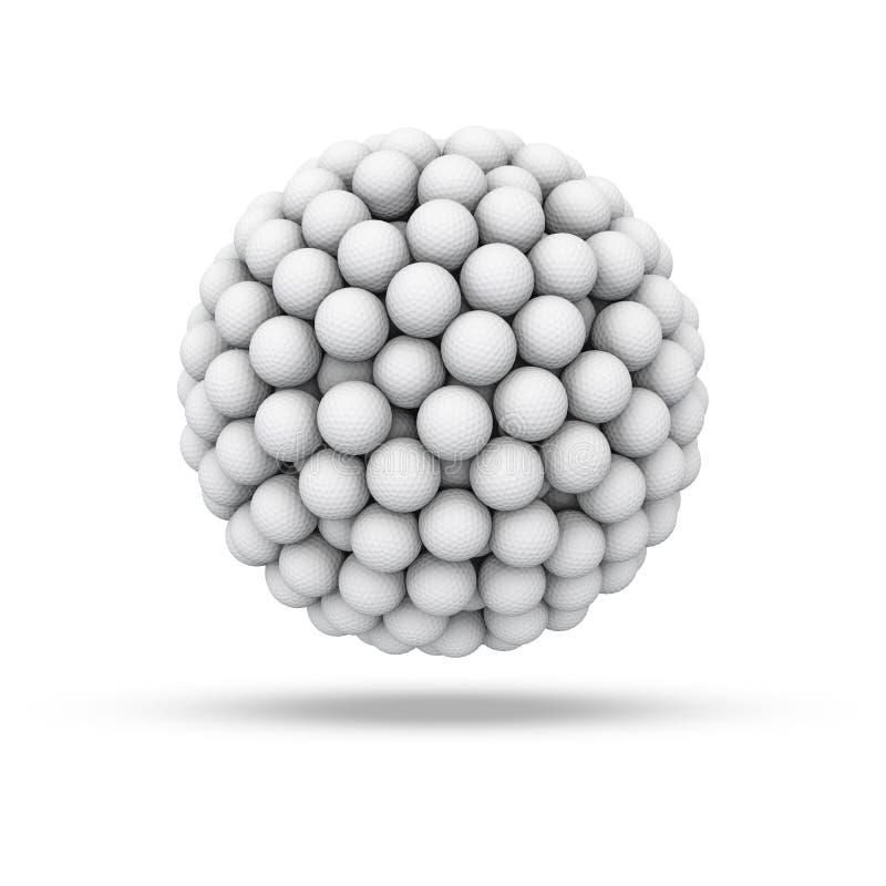 Esfera de la pelota de golf stock de ilustración
