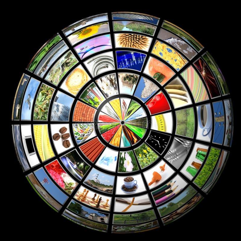 Esfera de los multimedia ilustración del vector