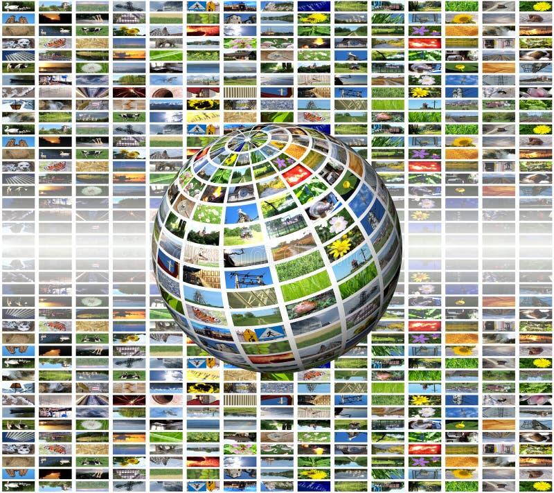 Esfera de los multimedia stock de ilustración