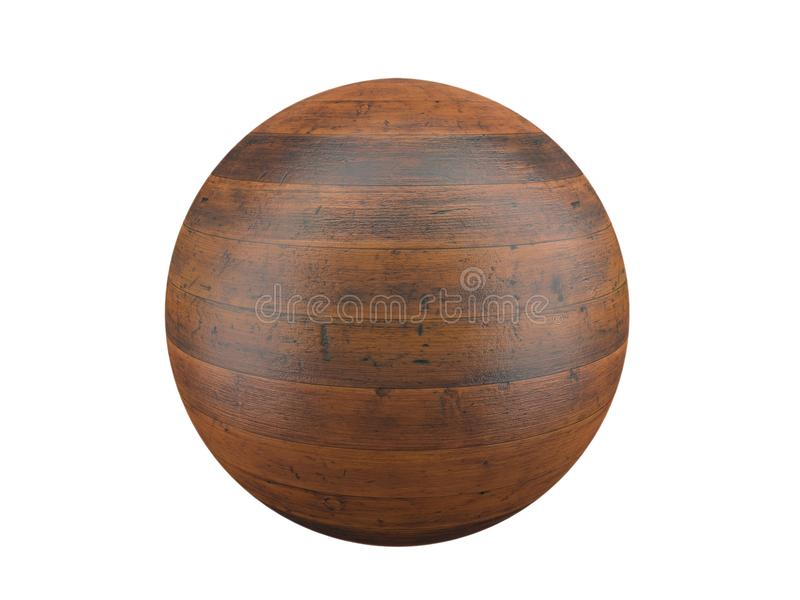 Esfera de madeira da prancha ilustração stock