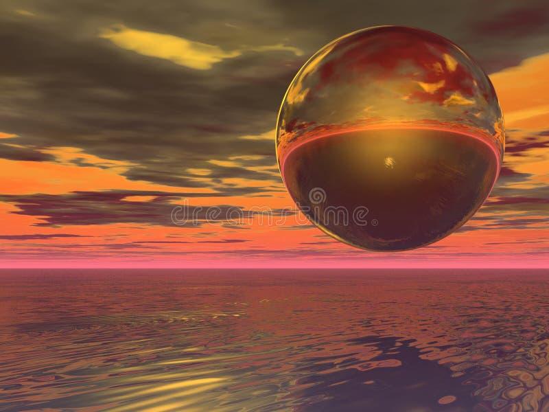 Esfera de oro stock de ilustración