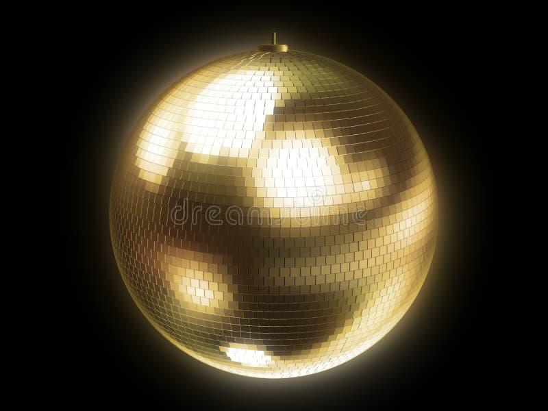 Esfera de oro del disco ilustración del vector