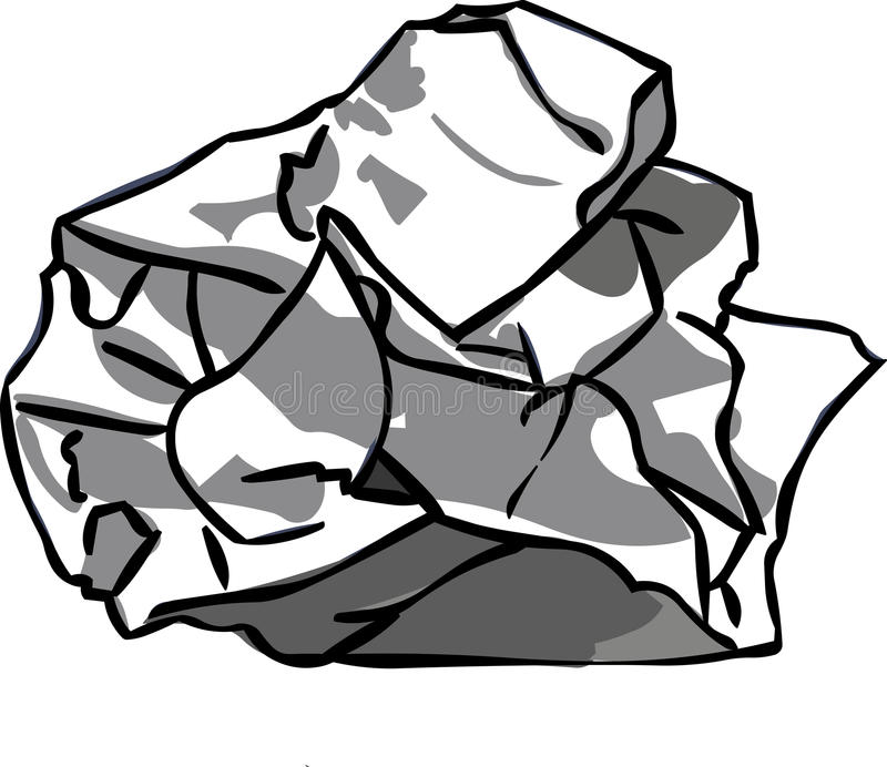 Esfera de papel ilustração stock