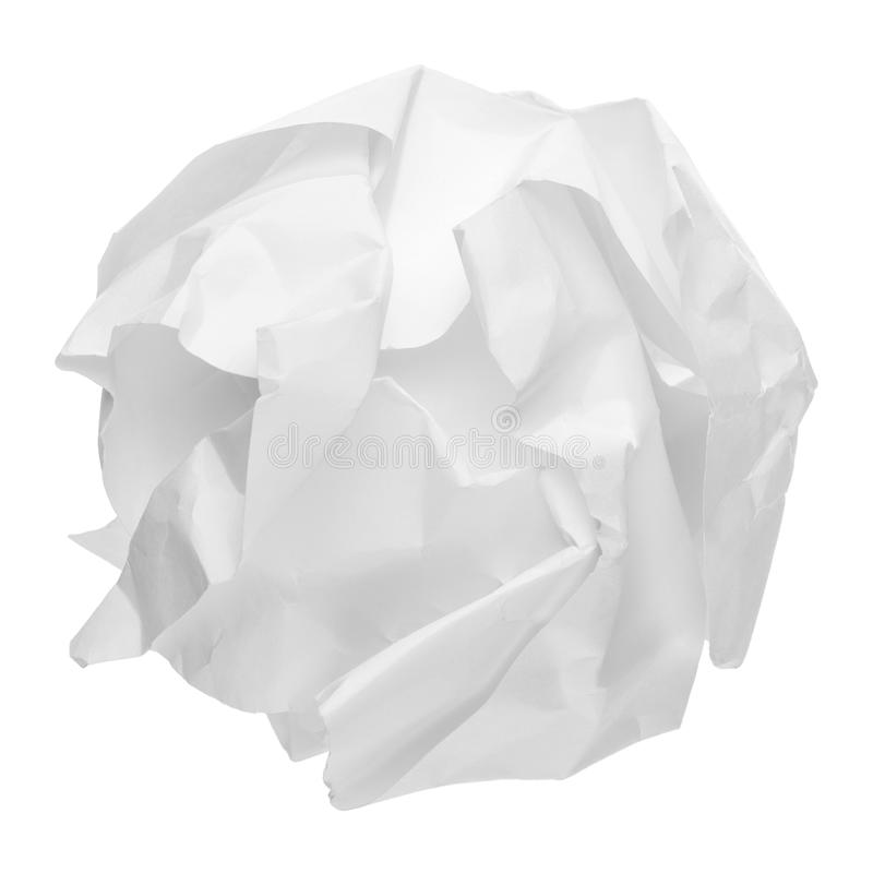 Esfera de papel amarrotada imagem de stock