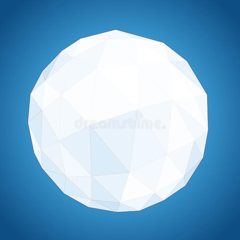 Esfera de papel geométrica abstrata do origâmi ilustração do vetor