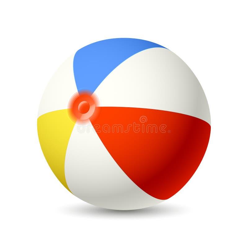 Esfera de praia ilustração stock