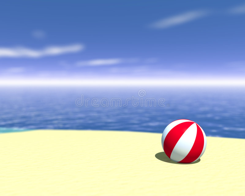 Esfera de praia ilustração do vetor