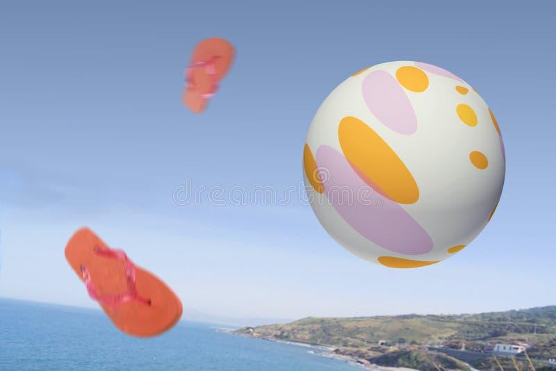 Esfera de praia imagens de stock