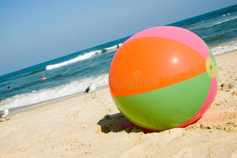 Esfera de praia em Virginia Beach foto de stock