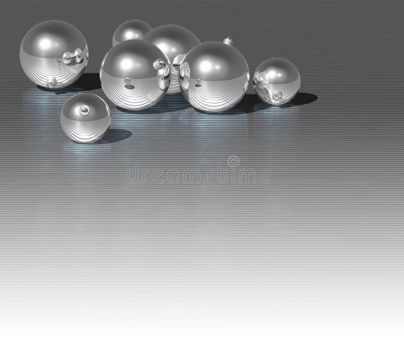 Esfera de prata do Natal ilustração royalty free