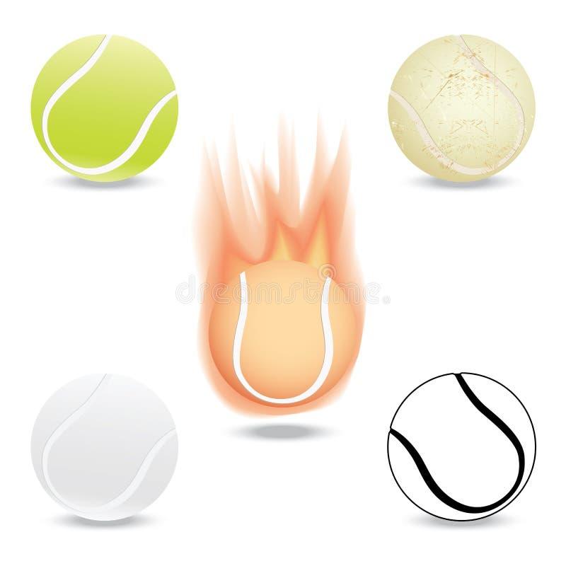 Esfera de tênis ilustração do vetor