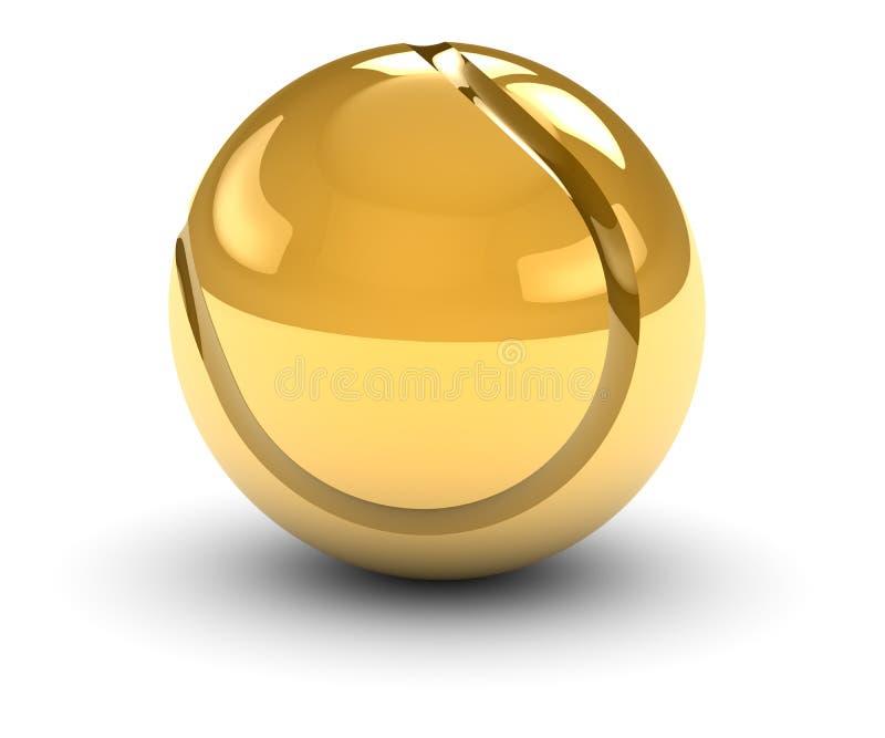 Esfera de tênis dourada ilustração royalty free