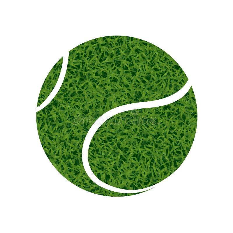 Esfera de tênis verde ilustração stock