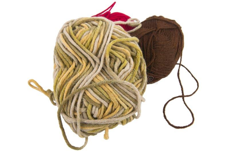 Esfera de uma lã de confecção de malhas do fio imagem de stock
