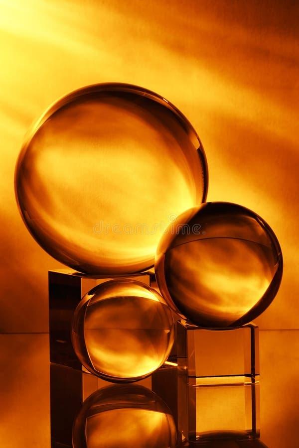 Esfera de vidro imagem de stock