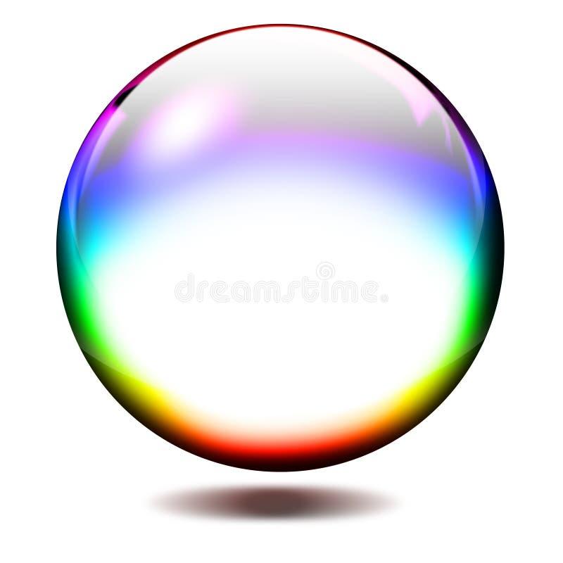 Esfera de vidro ilustração do vetor
