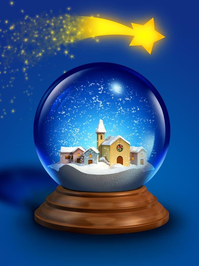 Esfera de vidro da neve ilustração royalty free