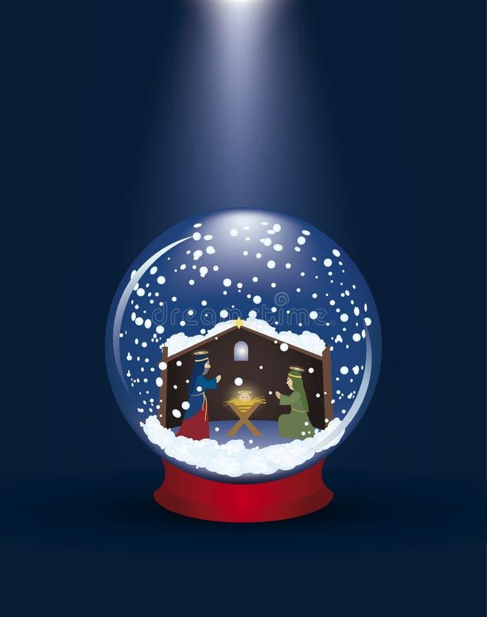 Esfera de vidro do Natal ilustração do vetor