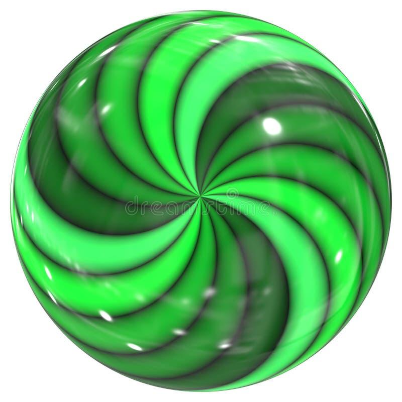 esfera de vidro do redemoinho verde ilustração stock