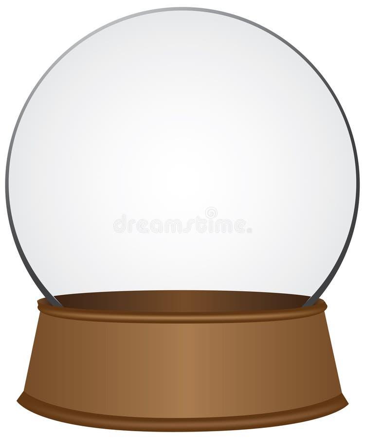Esfera de vidro no suporte de madeira ilustração royalty free