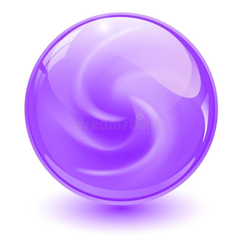Esfera de vidro roxa ilustração stock