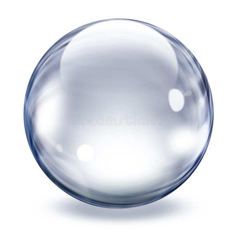 Esfera de vidro transparente ilustração royalty free