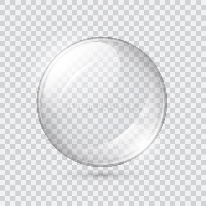 Esfera de vidro transparente ilustração do vetor