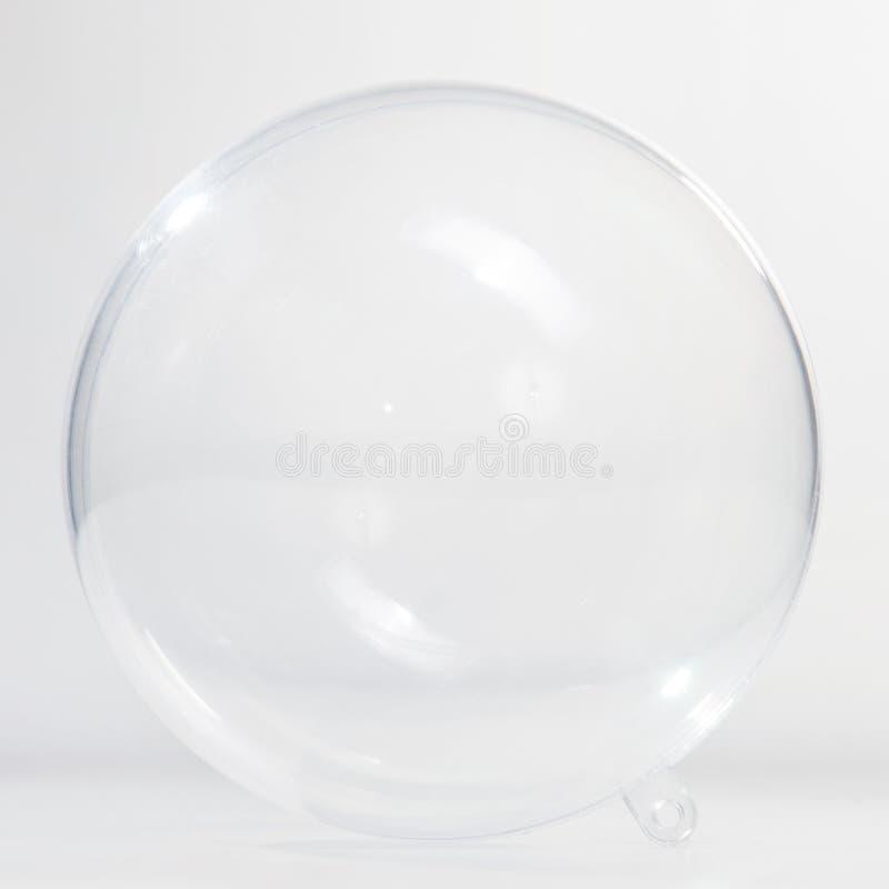 Esfera de vidro vazia imagem de stock