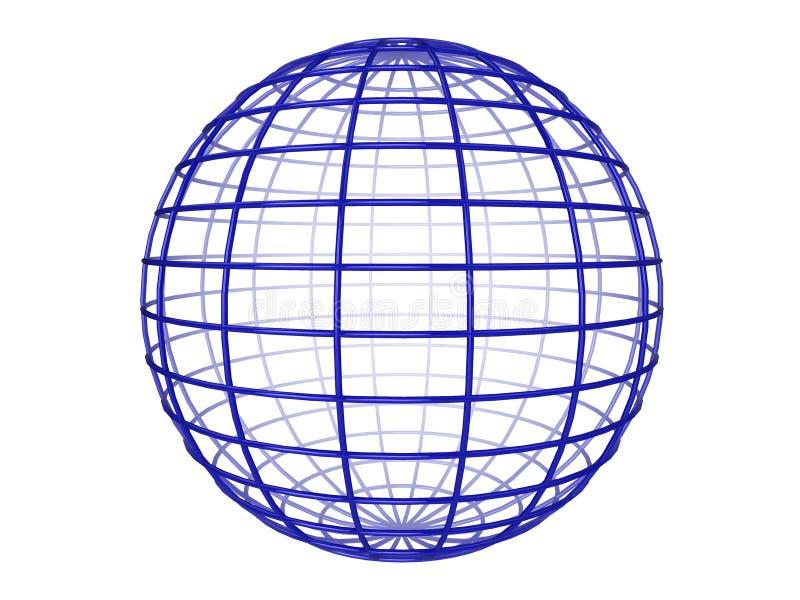 Esfera de Wireframe ilustración del vector