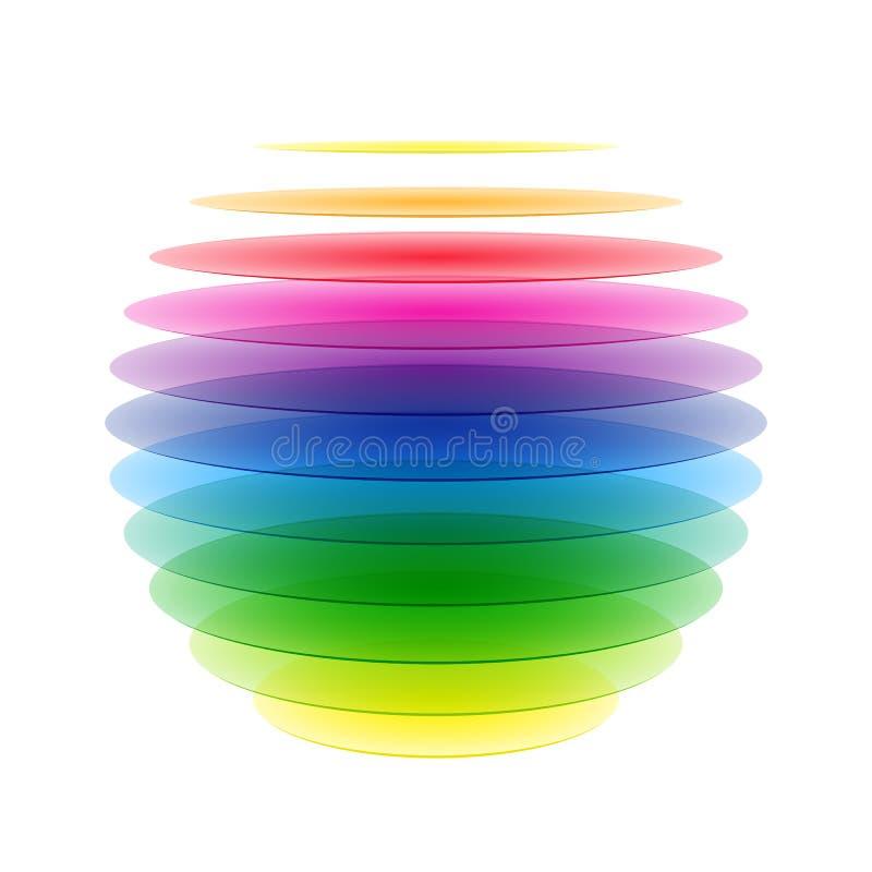 Esfera del arco iris ilustración del vector