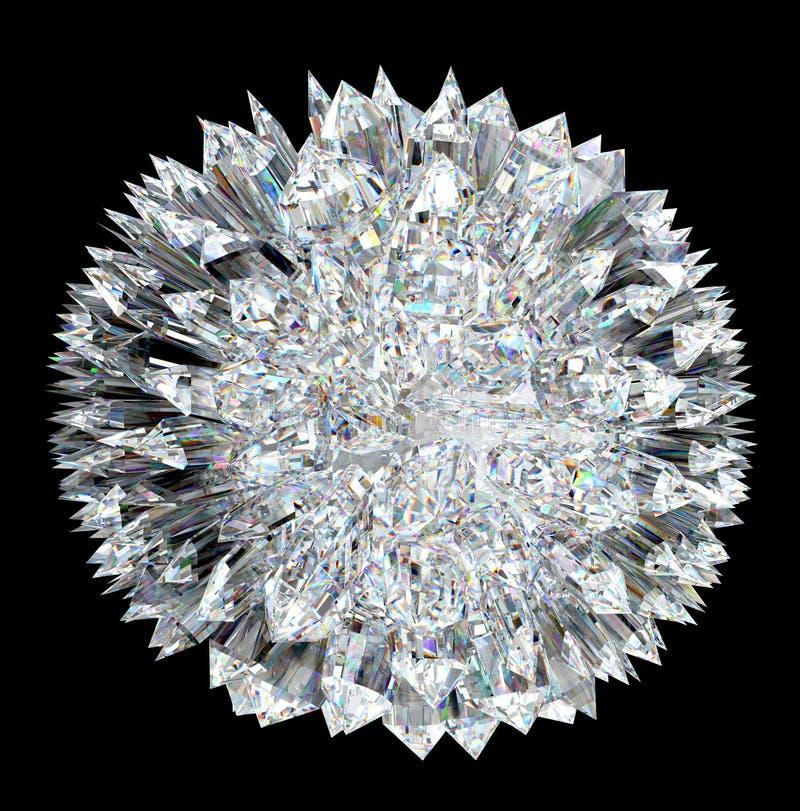 Esfera del diamante con estalagmitas libre illustration