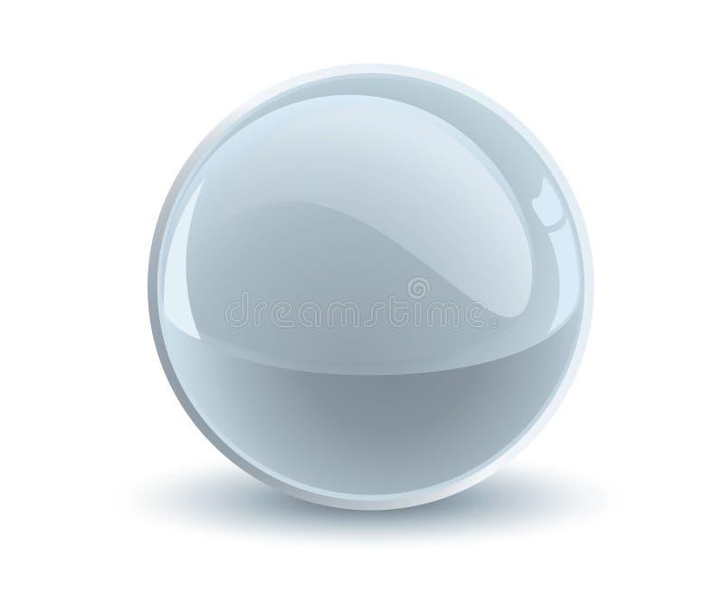 esfera del gris del vector 3d stock de ilustración