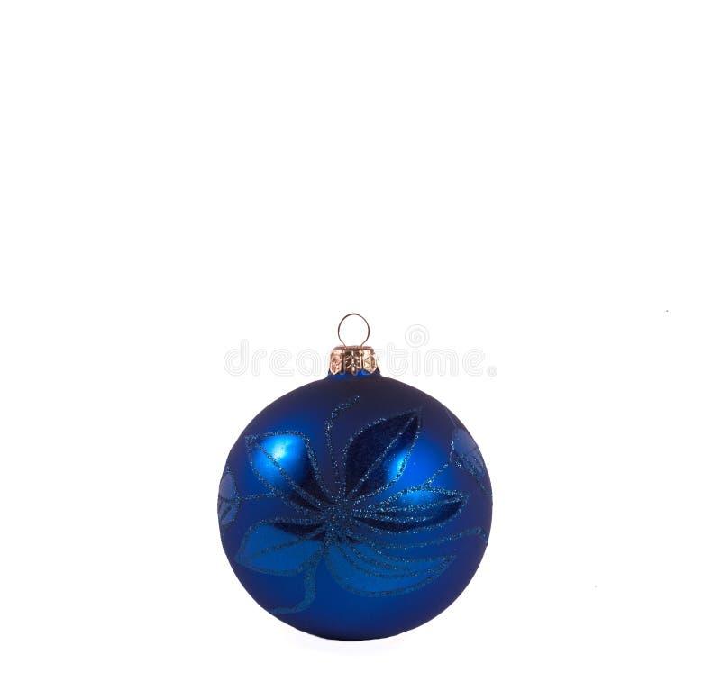 Esfera do azul de marinha do Natal imagens de stock royalty free