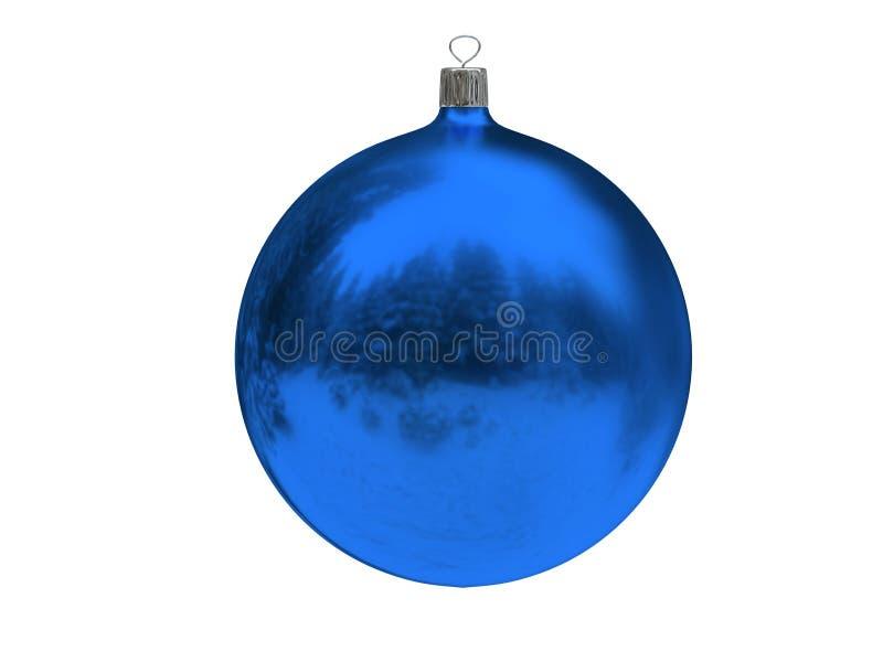 Esfera do azul do Natal imagens de stock