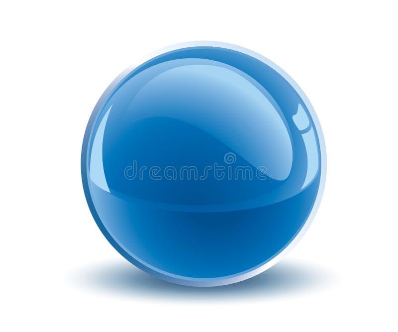 esfera do azul do vetor 3d ilustração stock