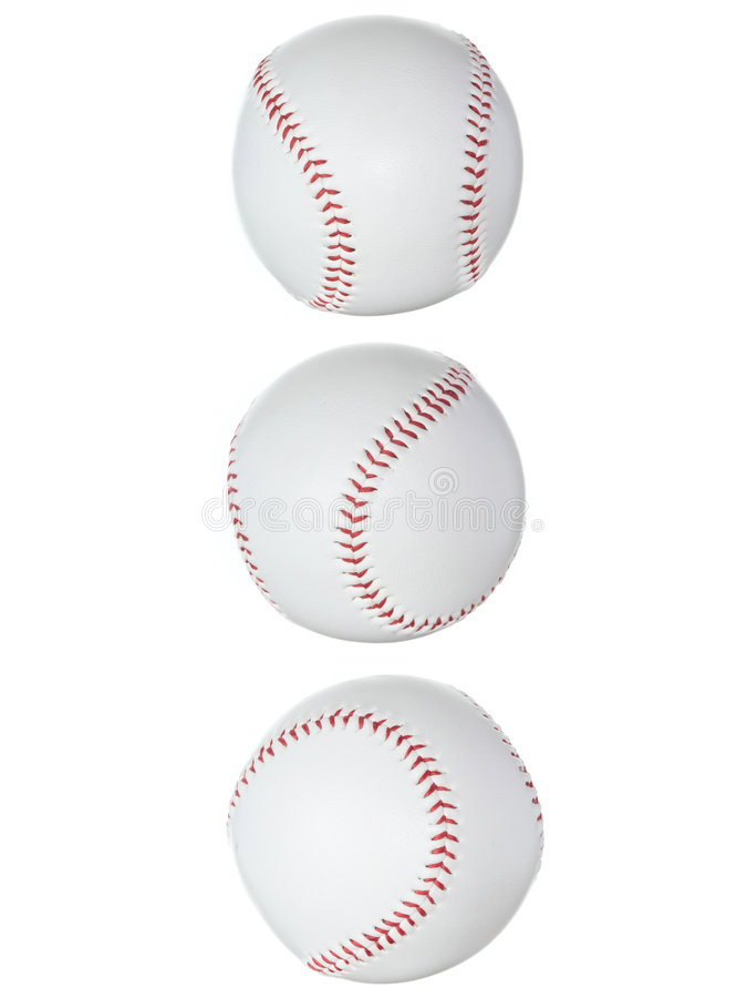 A esfera do basebol isolou-se fotografia de stock