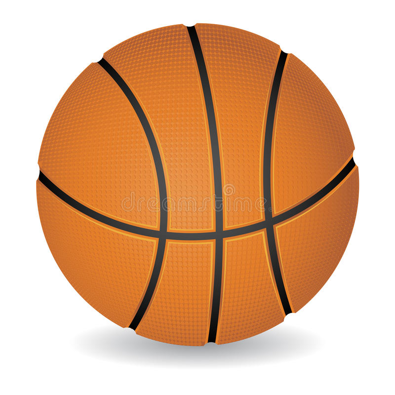 Esfera do basquetebol ilustração stock