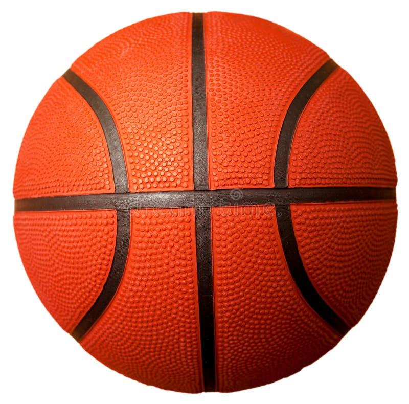 Esfera do basquetebol isolada no branco imagem de stock