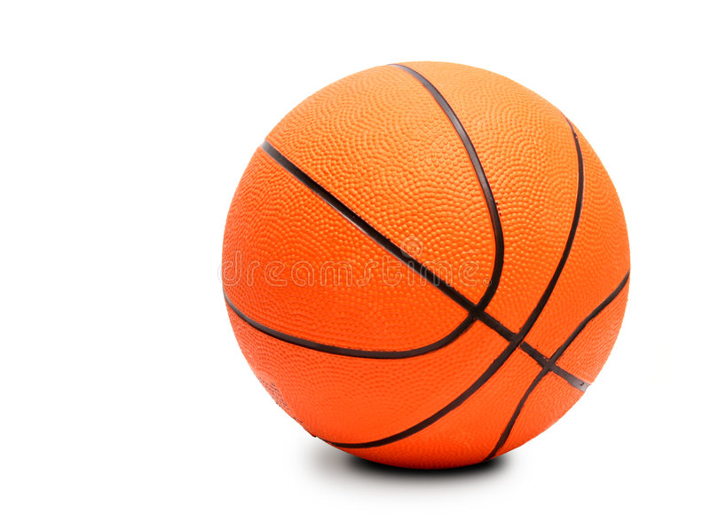 Esfera do basquetebol. Isolado no branco. fotografia de stock royalty free