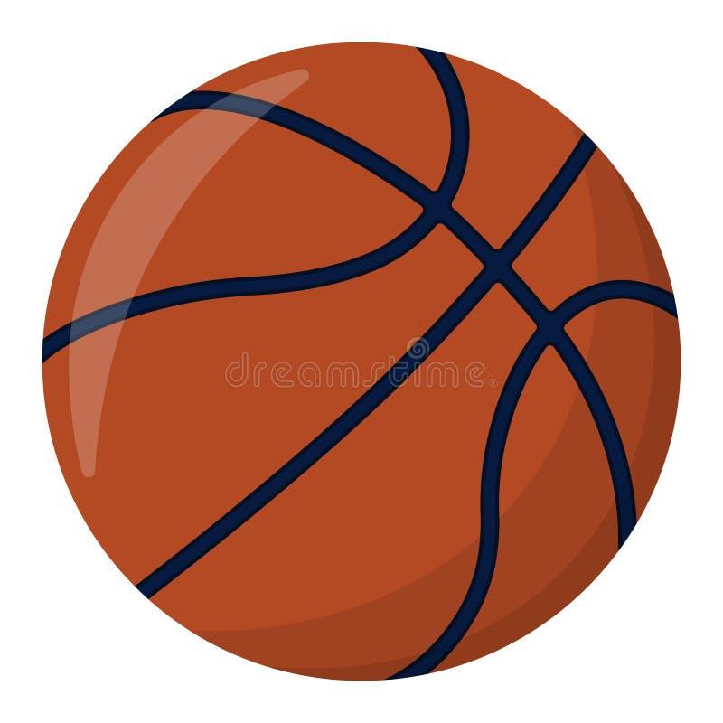 Esfera do basquetebol O esporte fornece o ícone e o logotipo Projeto isolado e ilustração royalty free
