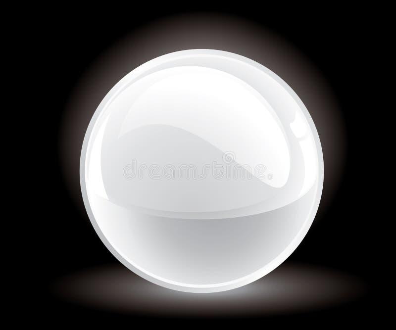 esfera do branco do vetor 3d ilustração do vetor